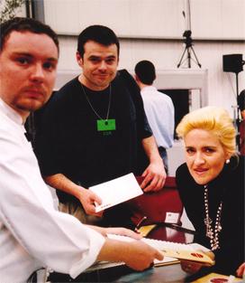 Kike Gómez Haces, fundadora de Catering Malena, compartiendo experiencia y conocimentos con Albert Adriá.