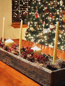 poner mesa navidad