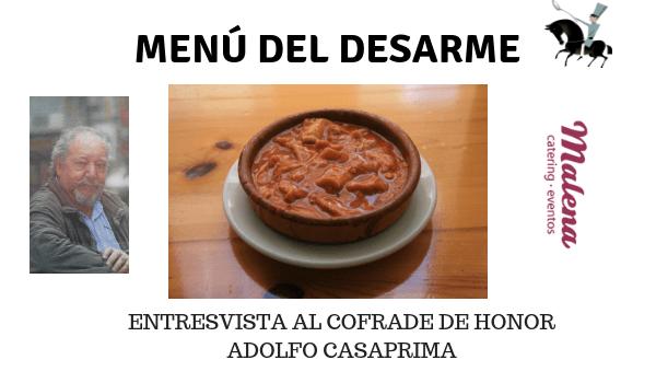 El desarme en Oviedo, fiesta gastronómica.